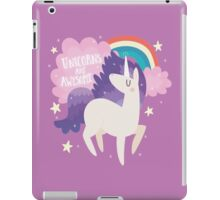 Unicorns Are Awesome With Clouds and Rainbow iPad Case/Skin