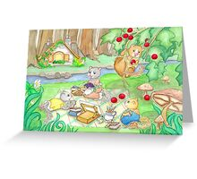 COTTAGE PICNIC Greeting Card