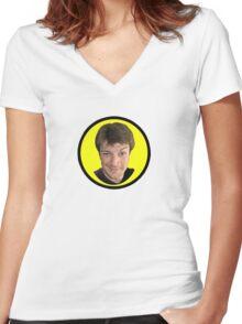 Captain Hammer Groupie Women's Fitted V-Neck T-Shirt