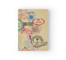 Vintage Passport Stamps Hardcover Journal