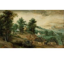 Jacob Grimmer - Landscape with Cottages  Photographic Print