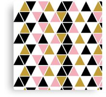 Pink, Gold, & Black Triangle Canvas Print