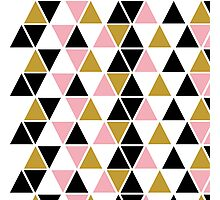Pink, Gold, & Black Triangle Photographic Print