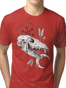The moon and the fox Tri-blend T-Shirt