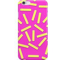 Fun Yellow Confetti on Neon Pink iPhone Case/Skin