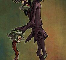 Zombie Gentleman Sticker