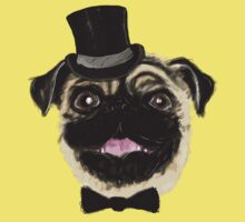 Pug in a top hat One Piece - Short Sleeve