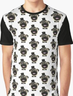 Pug in a top hat Graphic T-Shirt