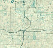 Atlanta Map Blue Vintage Sticker