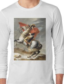 Jacques-Louis David - Bonaparte . The Emperor Napoleon , Napoleon, Fashion Portrait Long Sleeve T-Shirt