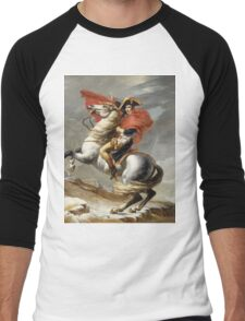 Jacques-Louis David - Bonaparte . The Emperor Napoleon , Napoleon, Fashion Portrait Men's Baseball ¾ T-Shirt