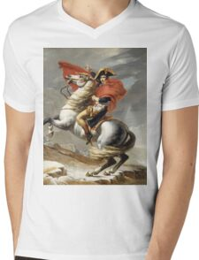 Jacques-Louis David - Bonaparte . The Emperor Napoleon , Napoleon, Fashion Portrait Mens V-Neck T-Shirt