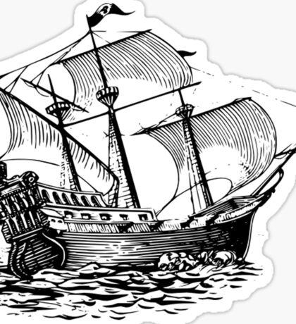 Galleon Ship Sticker