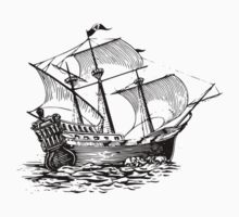 Galleon Ship Kids Tee