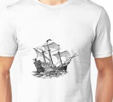 Galleon Ship Unisex T-Shirt