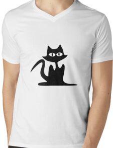 Halloween Cat Mens V-Neck T-Shirt