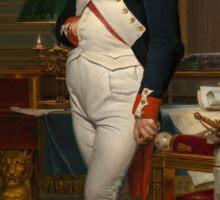 Jacques-Louis David - The Emperor Napoleon 1812 . Napoleon, Fashion Portrait Sticker