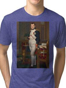 Jacques-Louis David - The Emperor Napoleon 1812 . Napoleon, Fashion Portrait Tri-blend T-Shirt