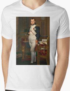 Jacques-Louis David - The Emperor Napoleon 1812 . Napoleon, Fashion Portrait Mens V-Neck T-Shirt