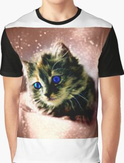 Sparkled Kitten Graphic T-Shirt