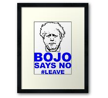 Bo Jo says no ukip Framed Print