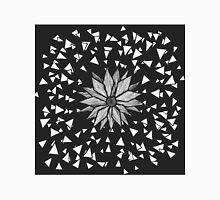 Modern Black Jagged Geometric Flower and Triangles Classic T-Shirt
