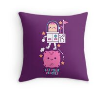 Eat your veggies Throw Pillow