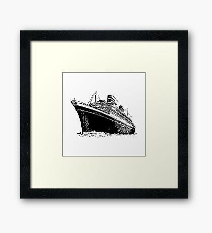 Ocean Liner Framed Print