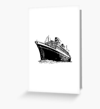 Ocean Liner Greeting Card