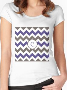 Purple Chevron C Women's Fitted Scoop T-Shirt