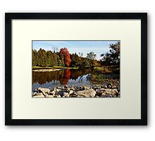 Tranquility On The Grand River  Framed Print