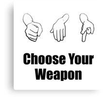 Rock Paper Scissors Weapon Canvas Print