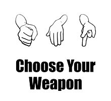 Rock Paper Scissors Weapon Photographic Print
