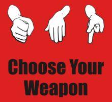 Rock Paper Scissors Weapon Kids Tee
