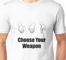 Rock Paper Scissors Weapon Unisex T-Shirt