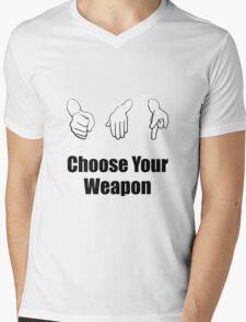 Rock Paper Scissors Weapon Mens V-Neck T-Shirt