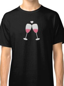 champagne glasses with heart Classic T-Shirt