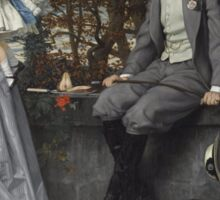 James Tissot - Portrait of the Marquis and Marchioness of Miramon and their children1865 Sticker