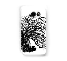 Black and white minimal abstract painting brushstrokes urban monochromatic art print painting india ink drawing Samsung Galaxy Case/Skin