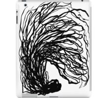 Black and white minimal abstract painting brushstrokes urban monochromatic art print painting india ink drawing iPad Case/Skin