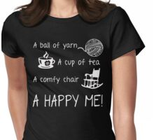 Knitting - A ball of yarn Womens Fitted T-Shirt