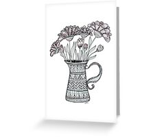 Pitcher of Flowers Greeting Card