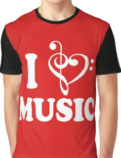 I Heart Music Graphic T-Shirt