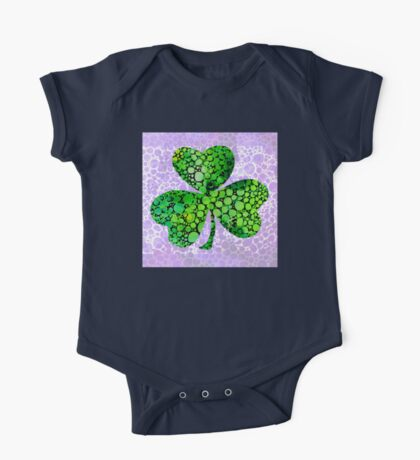 Shamrock Art by Sharon Cummings One Piece - Short Sleeve