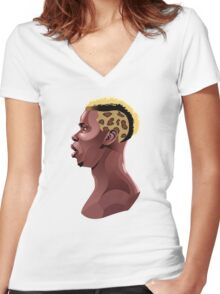 Paul Pogba Women's Fitted V-Neck T-Shirt