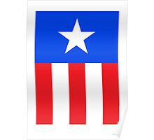Captain America, Star and stripes Poster