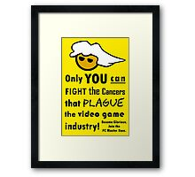 Become Glorious - PC Gamer Master Geek Funny Nerd Meme Framed Print