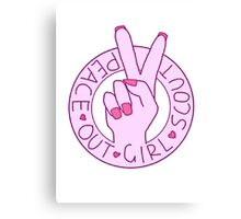 Peace out girl scout Canvas Print