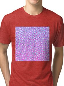Girly Modern Purple Teal White Abstract Triangles Tri-blend T-Shirt