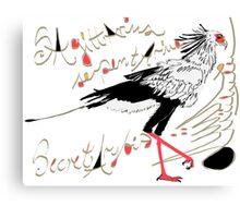 Secretarybird, Sagittarius serpentarius  Canvas Print